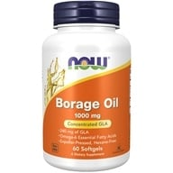 NOW Foods - Borage Oil 1000 mg 240 mg GLA - 60 Softgels (733739017208)