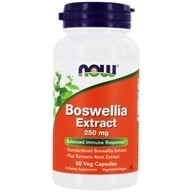 NOW Foods - Boswellin Extract 250 mg. - 60 Vegetarian Capsules (733739046130)