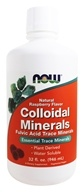 NOW Foods - Colloidal Minerals Raspberry - 32 oz.