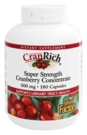 Natural Factors - Cran Rich Super Strength Cranberry Concentrate 500 mg. - 180 Capsules - $14.62