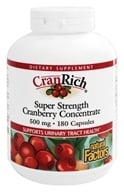 Natural Factors - Cran Rich Super Strength Cranberry Concentrate 500 mg. - 180 Capsules, from category: Nutritional Supplements
