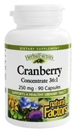 Natural Factors - Cranberry Concentrate 250 mg. - 90 Capsules - $7.77