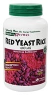 Nature's Plus - Herbal Actives Red Yeast Rice 600 mg. - 120 Vegetarian Capsules - $29.61