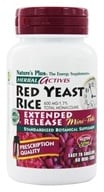 Nature's Plus - Herbal Actives Extended Release Red Yeast Rice Mini-Tabs 600 mg. - 60 Tablets