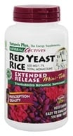 Image of Nature's Plus - Herbal Actives Red Yeast Rice Mini-Tabs Extended Release 600 mg. - 120 Tablets