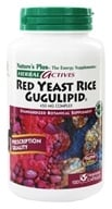 Nature's Plus - Herbal Actives Red Yeast Rice/Gugulipid Complex 450 mg. - 120 Vegetarian Capsules