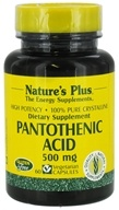Image of Nature's Plus - Pantothenic Acid 500 mg. - 60 Vegetarian Capsules