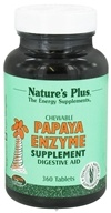 Nature's Plus - Papaya Enzyme - 360 Chewable Tablets, from category: Nutritional Supplements
