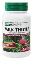 Image of Nature's Plus - Herbal Actives Milk Thistle 250 mg. - 60 Vegetarian Capsules
