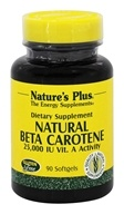 Image of Nature's Plus - Natural Beta Carotene 25000 IU - 90 Softgels
