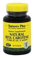 Nature's Plus - Natural Beta Carotene 25000 IU - 90 Softgels