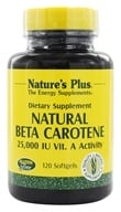 Nature's Plus - Natural Beta Carotene 25000 IU - 120 Softgels by Nature's Plus
