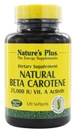 Nature's Plus - Natural Beta Carotene 25000 IU - 120 Softgels - $22.28