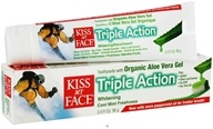 Kiss My Face - Toothpaste Triple Action Certified Natural Aloe Vera - 3.4 oz. - $3.48