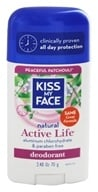 Image of Kiss My Face - Natural Active Life Deodorant Stick Aluminum Free Peaceful Patchouli - 2.48 oz.