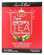 Laci Le Beau - Super Dieter's Tea All Natural Botanicals Caffeine Free - 60 Tea Bags (080987010896)