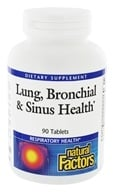 Natural Factors - Dr. Murray's Lung, Bronchial & Sinus Health - 90 Tablets (068958035055)