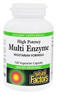 Natural Factors - Dr. Murray's Multi Enzyme High Potency Vegetarian Formula - 120 Capsules (068958017464)
