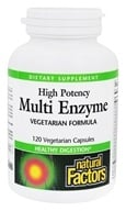 Image of Natural Factors - Dr. Murray's Multi Enzyme High Potency Vegetarian Formula - 120 Capsules