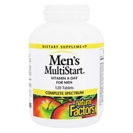 Natural Factors - Dr. Murray's MultiStart Men's Multivitamin & Mineral Formula - 120 Tablets (068958015705)