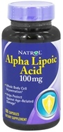 Natrol - Alpha Lipoic Acid 100 mg. - 100 Capsules, from category: Nutritional Supplements