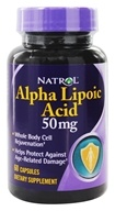 Natrol - Alpha Lipoic Acid 50 mg. - 60 Capsules, from category: Nutritional Supplements
