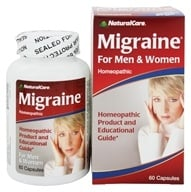 NaturalCare - Migraine Relief for Men and Women - 60 Capsules, from category: Homeopathy