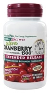 Nature's Plus - Herbal Actives Extended Release Ultra Cranberry 1500 mg. - 30 Tablets by Nature's Plus