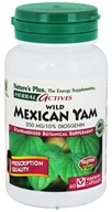 Nature's Plus - Herbal Actives Wild Mexican Yam 250 mg. - 60 Vegetarian Capsules - $14.14