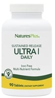 Nature's Plus - Ultra I Multi Nutrient Supplement Iron-Free Sustained Release - 90 Tablets - $32.67