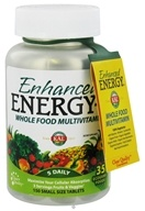 Kal - Enhanced Energy-S Whole Food MultiVitamin Small Tabs - 150 Vegetarian Tablets (021245710042)