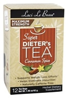 Laci Le Beau - Super Dieter's Tea Maximum Strength Caffeine Free Cinnamon Spice - 12 Tea Bags (080987010247)