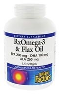 Image of Natural Factors - Dr. Murray's Fish & Flax Oil - 120 Softgels