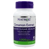 Natrol - Cinnamon Extract 1000 mg. - 80 Tablets, from category: Herbs