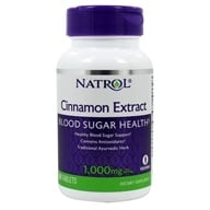 Natrol - Cinnamon Extract 1000 mg. - 80 Tablets by Natrol