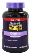 Natrol - My Favorite Multiple Original Multivitamin Iron-Free - 180 Capsules, from category: Vitamins & Minerals