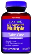 Natrol - My Favorite Multiple No Iron Take One - 60 Tablets, from category: Vitamins & Minerals