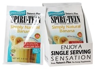 Image of Nature's Plus - Spiru-Tein UNSWEETENED High Protein Energy Meal Simply Natural Banana - 1 Packet