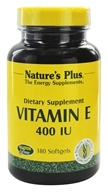 Nature's Plus - Vitamin E 400 IU - 180 Softgels, from category: Vitamins & Minerals