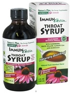 Image of Nature's Plus - Herbal Actives Immunactin Throat Syrup Natural Fruit/Menthol - 4 oz.