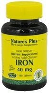 Nature's Plus - Iron 40 mg. - 180 Tablets, from category: Vitamins & Minerals
