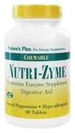 Nature's Plus - Nutri-Zyme Chewable Digestive Aid Peppermint - 90 Chewable Tablets - $7.49