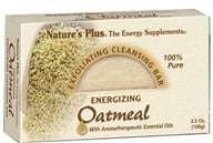 Nature's Plus - Exfoliating Cleansing Bar Energizing Oatmeal - 3.5 oz.