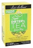 Laci Le Beau - Super Dieter's Tea Maximum Strength Caffeine Free Lemon Mint - 12 Tea Bags