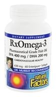 Natural Factors - Dr. Murray's RxOmega-3 Factors EPA 400mg / DHA 200mg - 60 Softgels (068958035482)