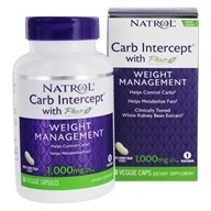 Natrol - Carb Intercept With Phase 2 - 60 Capsules Contains White Kidney Bean Extract