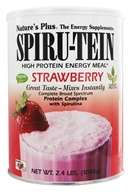 Image of Nature's Plus - Spiru-Tein High Protein Energy Meal Strawberry - 2.4 lbs.