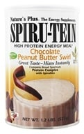 Image of Nature's Plus - Spiru-Tein High Protein Energy Meal Chocolate Peanut Butter Swirl - 1.2 lbs.