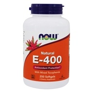 NOW Foods - E-400 Mixed Tocopherols - 250 Softgels by NOW Foods