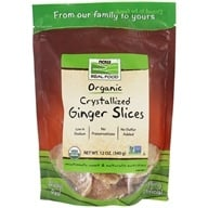 NOW Foods - Crystallized Ginger Slices - 12 oz. by NOW Foods